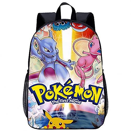 Pokemon Sac à Dos D'école Sac à Dos étanche pour Ordinateur Portable Sac à Bandoulière De Mode Décontracté pour Femmes