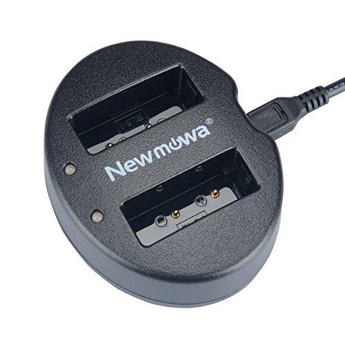 Newmowa USB Cargador Doble para Olympus PS-BLS1 BLS-1 Olympus Pen E-PL1 E-PM1 EP3 EPL3 Evolt E-420 E-620 E-450 E-400 E-410