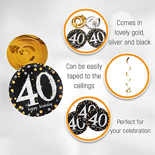 40th Birthday Decorations for Men & Women | 40th Anniversary Decorations - Our Party Supplies Come with a Cheers to 40…