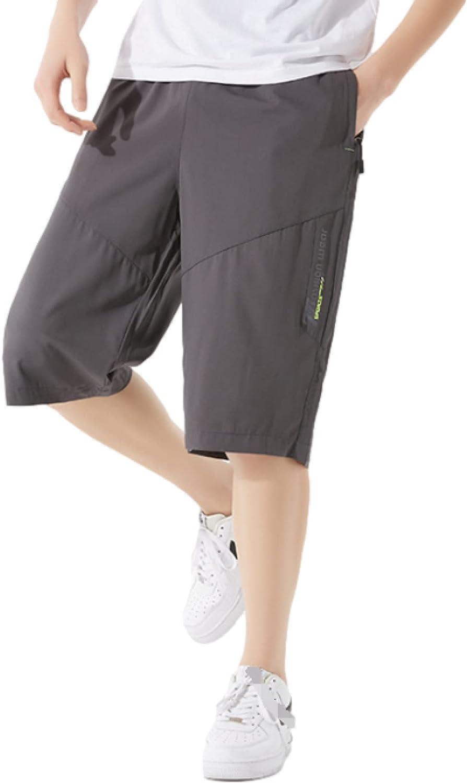Segindy Men's Fashion Trend Sports Shorts Summer Thin Comfortable Stretch Leisure