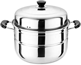 HRXD Large Steamer, Stainless Steel, Two-layer, Three-layer, Thick Steamer, Steaming Grid, Soup Pot, Double-layer, Commerc...