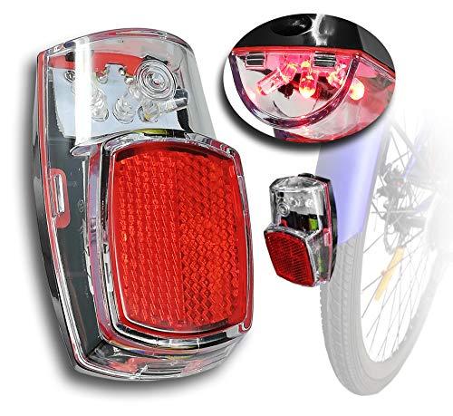 S.T.S. Fanale LED Posteriore per Bici Vintage da parafango, Luce da City Bike Trekking