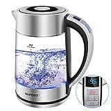 LLIVEKIT 1.7L Glass Electric Kettle, 1500W Tea Kettle with Temperature Control & Keep-Warm