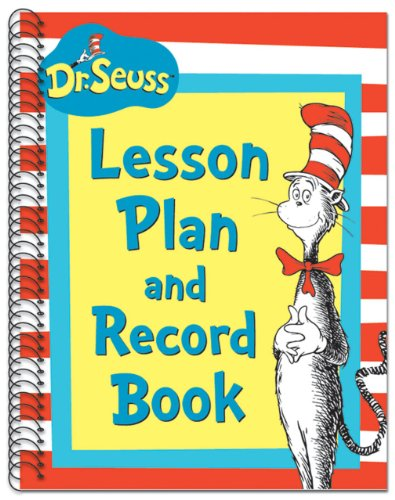 Eureka Dr. Seuss's Cat In Hat Lesson Plan/Record Book Miscellaneous, 40 Weeks, 8.5 x 11
