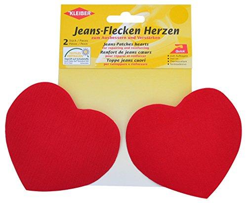 Kleiber + Co.GmbH Jeans-Flecken Herzen, ca. 8,5 cm x 10,5 cm