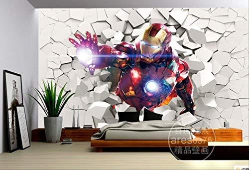 3d Iron Man Wallpaper Marvel Heroes Fototapete Benutzerdefinierte Wandbilder Jungen Kind Schlafzimmer Kunst Raumdekor Innenarchitektur Avengers Breite200cm * Höhe200cm