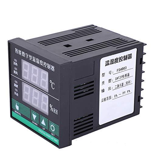 Weikeya Controller Durevole di Temperatura e umidità, Controller di umidità AC220V / 3A a Due Vie Passive AC220V / 3A 7 x 7 x 10 cm di plastica, Metallo