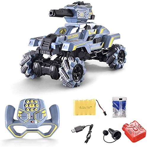 Mopoq Children's Toy Remote Control Tank Can Launch Water Bombs High-Speed Drift Climbing Car Boy Toy, RC Off-Road Vehicle Toy, Children's Best Birthday