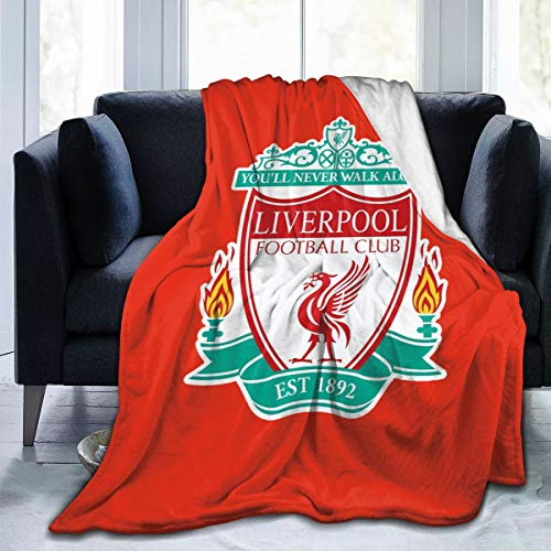 ASIUHAWF892A Liverpool FC Logo Europ Champion Soft and Warm Throw Blanket Digital Printed Ultra-Soft Micro Fleece Blanket50 X4060 X5080 X60