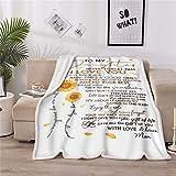 LOVINSUNSHINE Sunflower Love Letter to My Daughter Blanket Daughter Gift from Mom to My Daughter Blankets Encouragement Gifts for Daughter - 60x80in