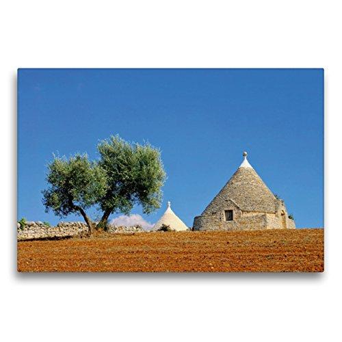 CALVENDO Premium Textil-Leinwand 75 x 50 cm Quer-Format Trulli, EIN Motiv aus dem Kalender Apulien, Leinwanddruck von Thomas Polske