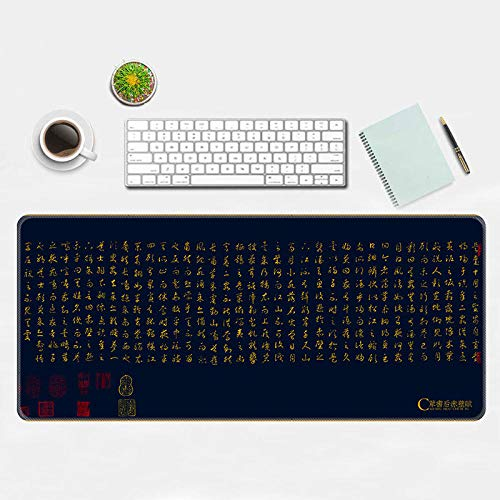 Domrx Guofeng Imagen Alfombrilla de ratón Grande Alfombrilla de ratón Juego Creativo Oficina de Juegos Alfombrilla de ordenador-300 × 600 × 2MM_HOU Chibi Fu