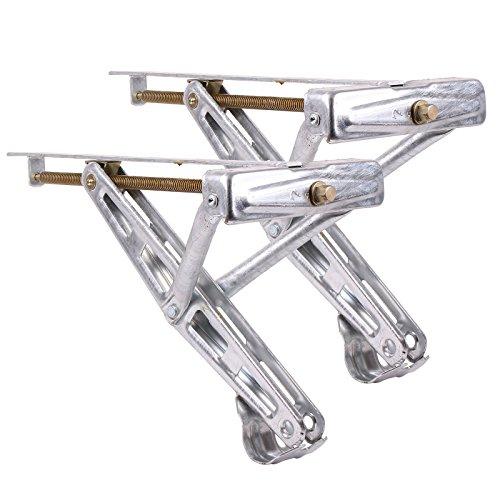 Ausdrehstütze Kurbelstütze für Wohnwagen 2er Set - Traglast 600 Kg Stahl verzinkt universal passend