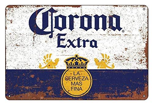 Regalo vintage de cerveza corona mexicana más grande Inspiración trofeo placa de metal para regalo de 200 mm x 300 mm