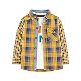 Mothercare MB Mm Ylw Check Shirt & Tee LS T-Shirt, Nero (Brights Multi 281), 24-36 Months (Manufacturer Size:98) Unisex-Bimbi