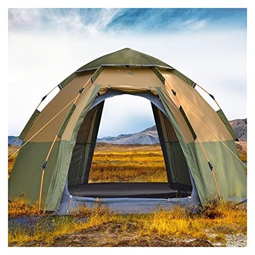 JSJJARF Tienda de campaña 3-4 Persona cúpula Carpa automática, fácil configuración instantánea protegible Camping emergente 4 Estaciones Mochilero Familia Tienda de Viajes