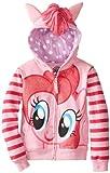 My Little Pony Little Girls Zip-up Hoodie, Pinkie Pie, Large (6X)