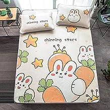 Cartoon Car Summer Sleeping Bed Mat Foldable Bed Sheet Children Students Summer Ice Silk Sleep Bed Mattress Protector Cove...