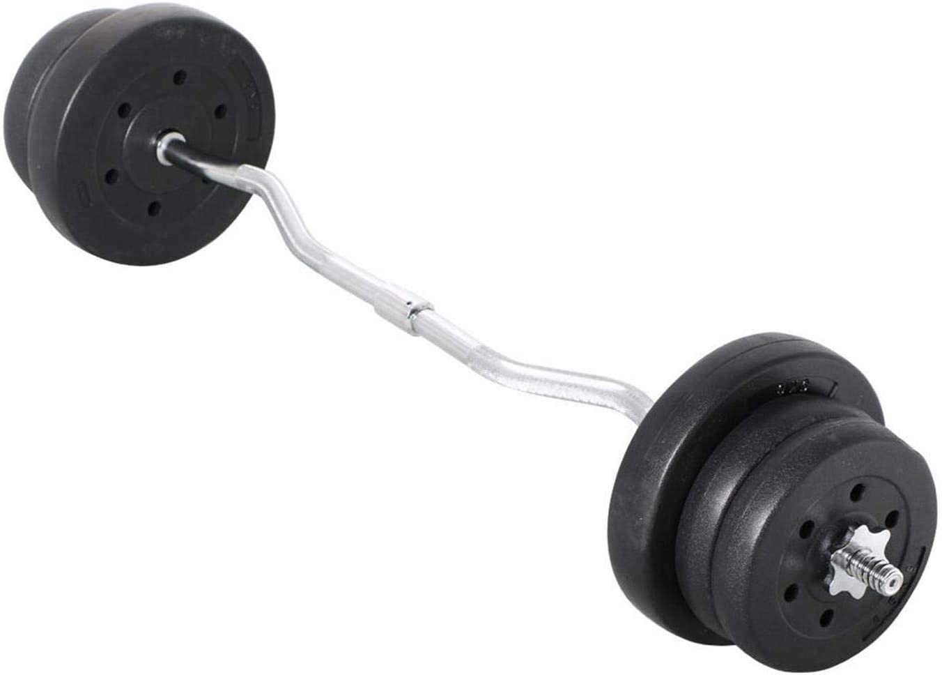 Super popular specialty store 2021 model YAHEETECH 55lb Olympic Barbell Dumbbell Lifting Weight Set E Gym