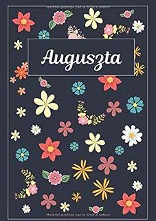 Auguszta: Agenda Personnalisé   Journal   120 pages   A4   Blanc   Idées Cadeaux