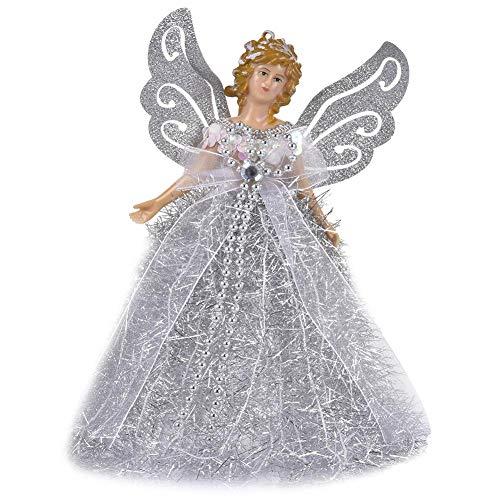 Fabric Angel Christmas Tree Topper, Christmas Doll Hanging Angel, Tree Top Angel, Christmas Tree Topper Fairy Angel House Decoration Ornament, Christmas Tree Topper Fairy Angel House Decoration Orname