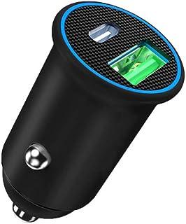 USB C Car Charger, ZHAM Super Mini All Metal 60W(max) Fast Car Charger, PD 60W + QC4.0 30W Dual Port Car Adapter Compatibl...