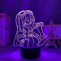 GMYXSW アクリル3DイリュージョンランプアニメBofuri用寝室装飾的なナイトライト誕生日ギフトルームテーブルランプマンガLEDナイトライトBOFURI雰囲気照明-16色の変更-16色の変更