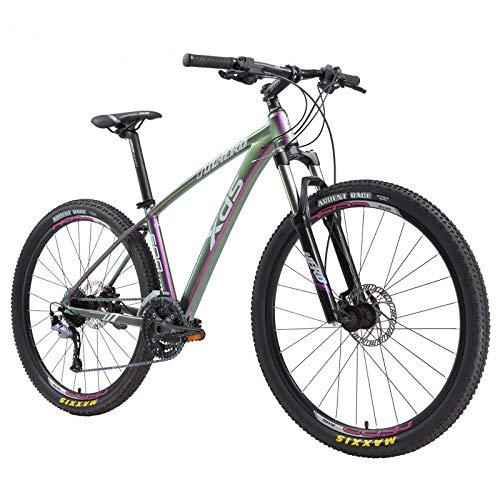CDDSML Bicicleta de montaña 600 Freno de Aceite Color Degradado Deportes Fitness Freno de Aceite Peilin Flor Tambor bicicleta-27 Speed_Haze Degradado Color 17 Pulgadas_27,5 Pulgadas