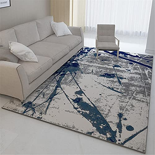 Suelo Radiante electrico Diseño de Tinta Abstracta Gris Azul Diseño de la...