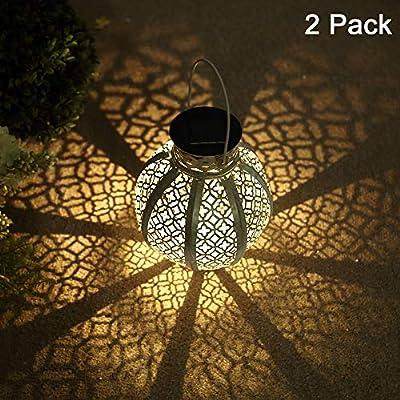 GLAMOURIC 2 Pack Hanging Solar Lights
