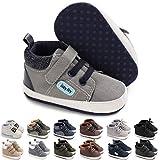 KaKaKiKi Baby Boys Girls High Top Sneakers Soft Soles Anti Skid Infant Ankle Shoes Toddler Prewalker First Walking Crib Shoes