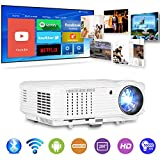 WiFi Projector with Wireless Bluetooth, 3900 Lumen HD Projector Support 1080P Full HD