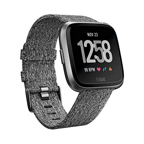 Fitbit Versa - Reloj Deportivo Smartwatch - Edición Especial - Unisex Adulto, Gris, S/P + L/G