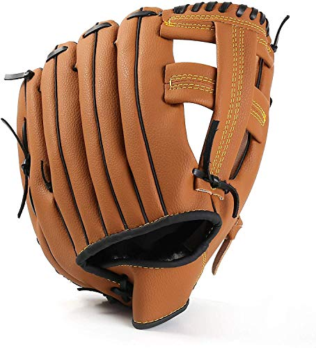 Unihoh Outfield Gloves Baseball Glove Softball Gloves – Right Hand Throw – Adult and Youth Sizes – 12,5in Size Mitts — Easy Break in Baseball Mitt