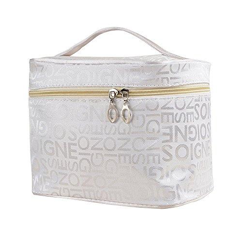 Maquillage cosmétique sac organisateur pour les femmes train cas style avec double fermeture éclair portable Kit organisateur de voyage pour les brosses