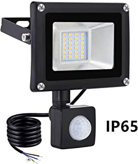 20W Foco LED con Sensor Movimiento, IP65 Impermeable 1600LM