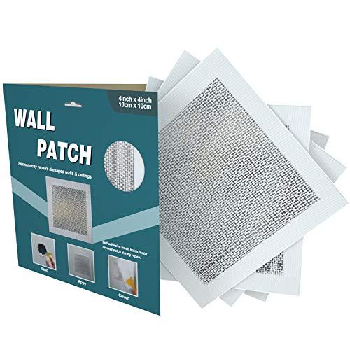 "Drywall Repair Patch, Self Adhesive Fiberglass Wall Repair Patch Kit, 4""x4"" Heavy Duty Dry Wall Hole Repair Patch (5 Pack)"