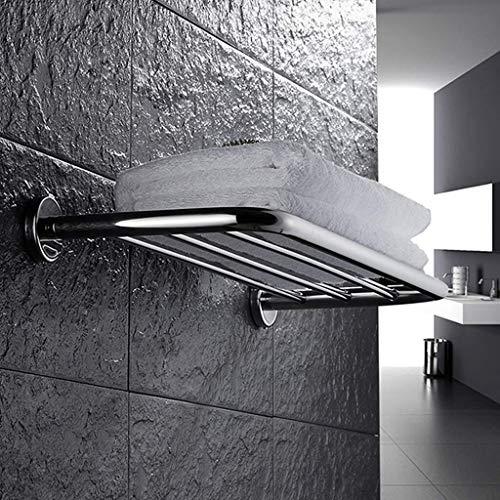 DNSJB - Toallero de acero inoxidable con estante de acero inoxidable con estante de acero inoxidable con estante estilo cuadrado contemporáneo (tamaño: 800 mm)