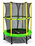Roanude Mini Trampoline with Enclosure Net for Toddlers,55' Kids Trampoline for Indoor Activities
