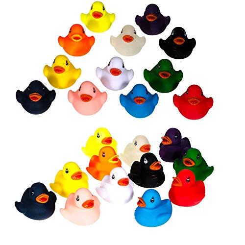 SIDCO Badeente 24 Stück Gummiente Quitscheente Schwimmente Mini Ente Plastikente