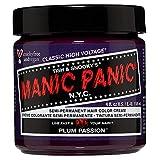 Manic Panic - Plum Passion Classic Creme Vegan Cruelty Free Purple Semi Permanent Hair Dye 118ml