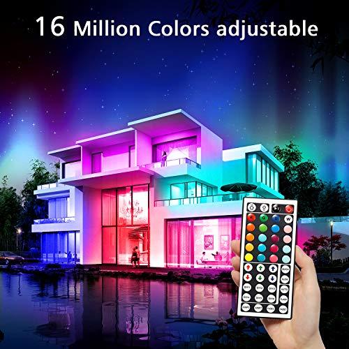 Daybetter Led Lights Color Changing Led Strip Lights with Remote Controller-60ft 4