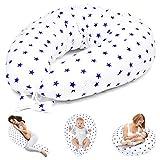 Cojín de lactancia para dormir de lado, cojín de apoyo para bebé XXL, Oeko-Tex
