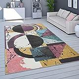 Tapis De Salon, Poils Ras Moderne Couleurs Pastel, Coloris Et Tailles Variés, Dimension:120x170 cm, Couleur:Multicolore 4