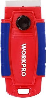 WORKPRO Razor Blade Scraper, Fully Retractable, 4-Positions, Safe Convenient Storage, Ergonomic Handle, Single Blade