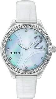 Titan Women's 9744SL03 Purple Analog Display Analog Quartz White Watch