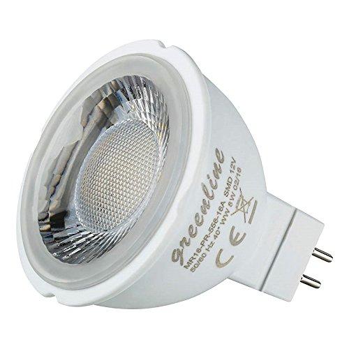 8 Watt Greenline® LED MR16 / GU5.3 50 Watt Ersatz 12V warmweiß #396