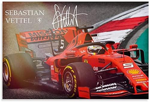 Adultos Puzzle 500 Piezas Niños Rompecabezas El piloto de carreras campeón del mundo de F1 Sebastian Vettel y Picture Modern 500 Piece 20.4x15inch(52x38cm) Sin Marco