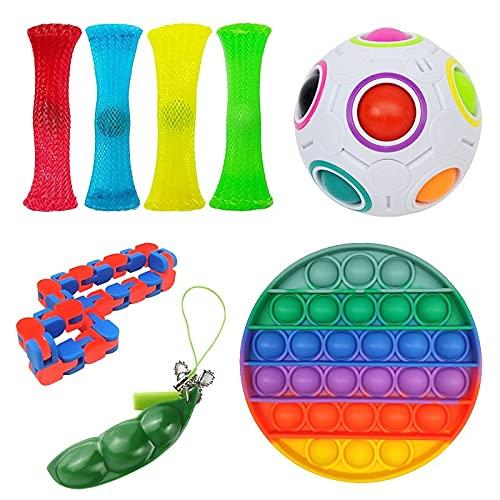 BIZS Nuevos Diseños Fidget Toys Pack Sensory Juguete Set Antistress Alivio Autismo Ansiedad Anti Burbuja para Niños Adultos (Color : A)