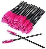 100 Pennello per ciglia monouso,pennelli usa e getta per ciglia, pennello per sopracciglia,scovolino monouso mascara, per extension per ciglia(Rosa rossa)